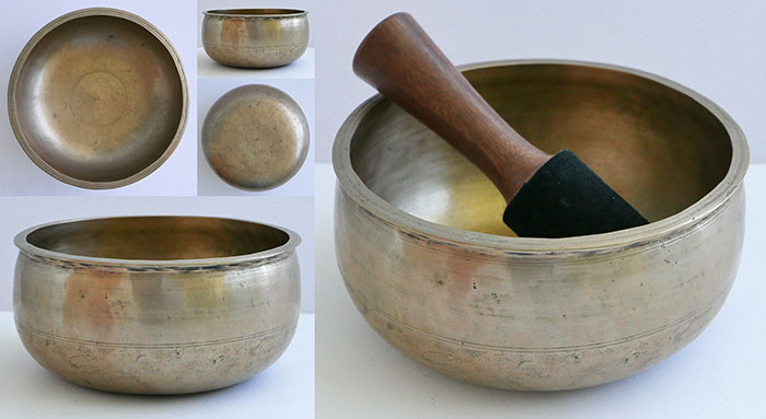 Unusual Antique Pot-Shaped Singing Bowl – Eb4 (307Hz)