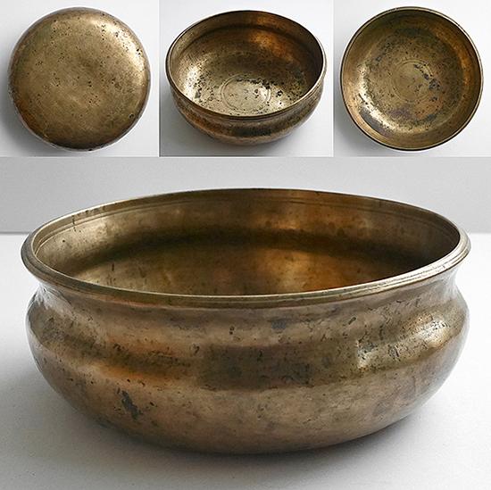 Rare Antique Himalayan Shaman Singing Bowl – E4 & B5