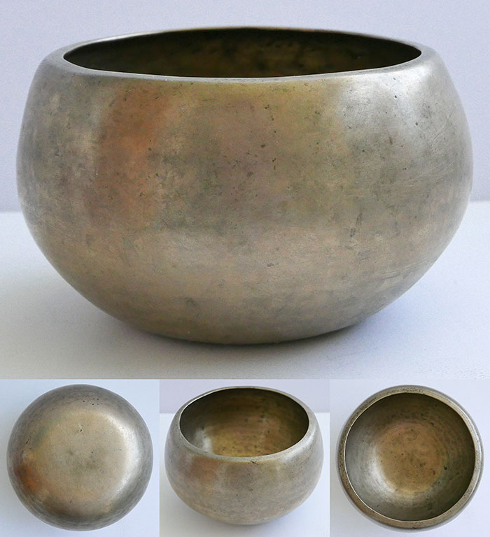 Rare Antique 'Genie' Singing Bowl – Powerful G#4 & Inscription