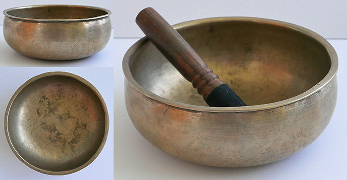 Unusual Antique Singing Bowl – B3 & Powerful F#5 - Inscribed