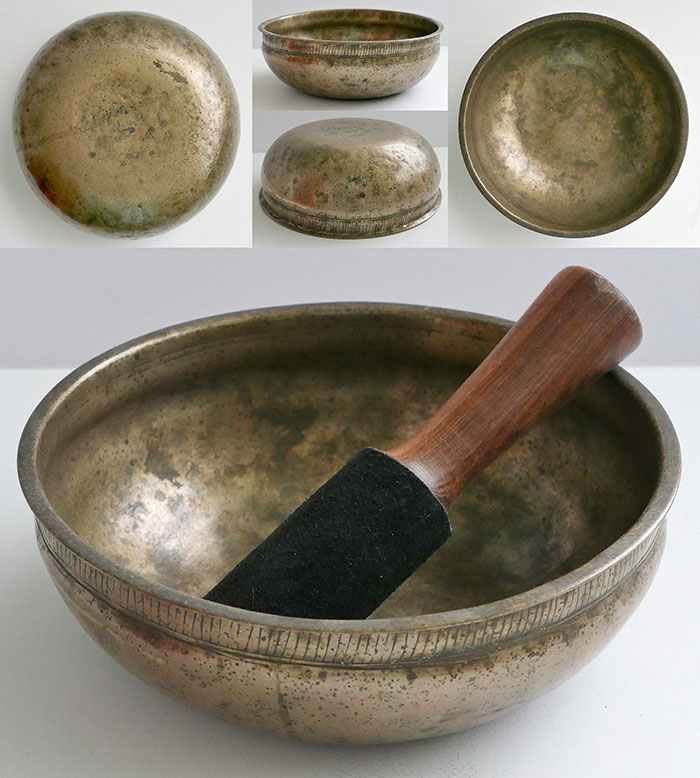 Unusual Antique Singing & Talking Bowl in 'As Found' Condition – G#3 & Eb5