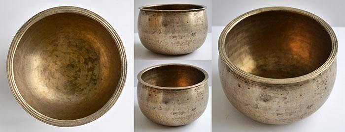 Rare Pot-Shaped Antique Singing Bowl – G4 (382/3Hz)