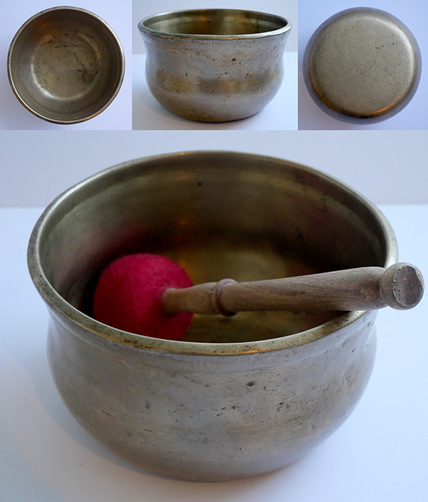 Rare Antique Bell-Shaped Singing Bowl – Concert Pitch Bb3 (233/4Hz)