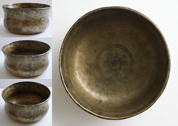 Rare Bell-Shaped Antique Singing Bowl – D4 (295Hz)