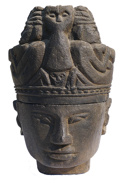 Batak Stone Head Container