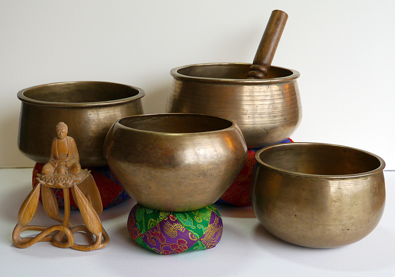 Unusual Tibetan Singing Bowls